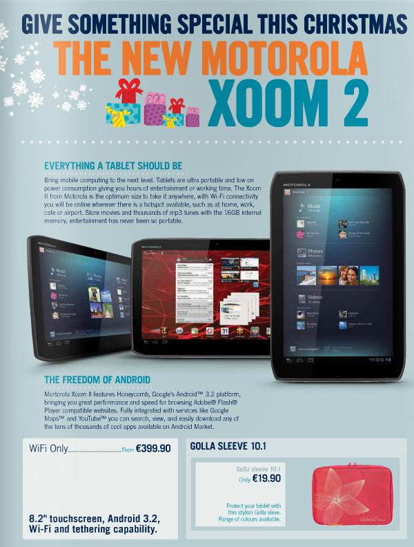 Листовка с рекламой Xoom 2