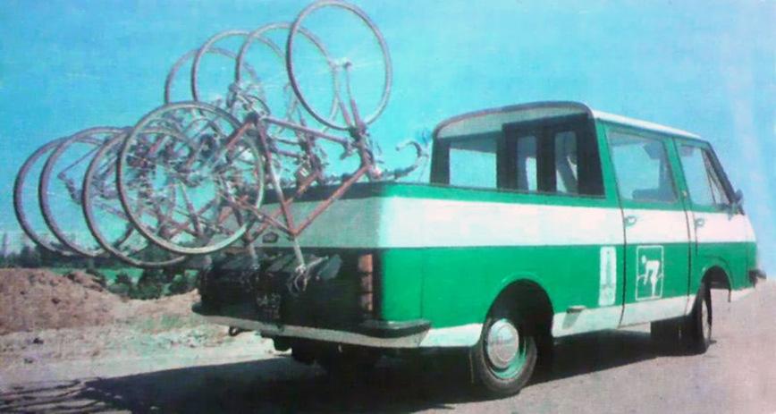 Транспорт создали специально к Олимпиаде 1980 года для обслуживания велогонок