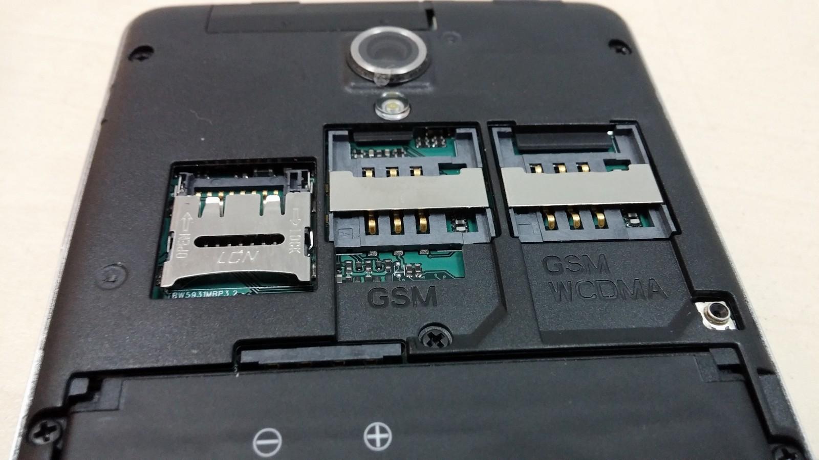 iconBIT NetTab Mercury Q4 - 2 слота для SIM-карт и слот для MicroSD