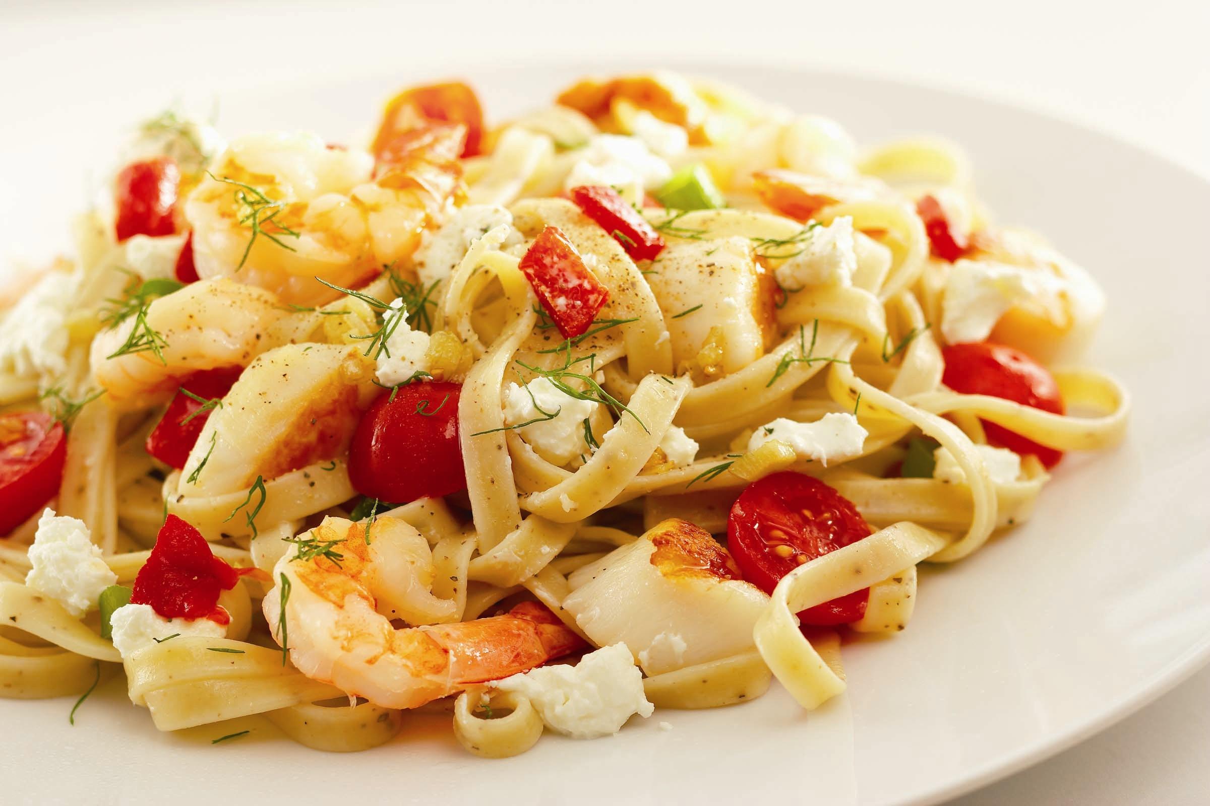Паста с фетой - еще один секрет диетической итальянской кухни