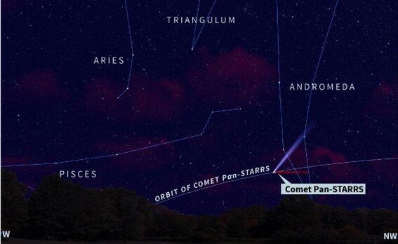 Где можно увидеть комету
