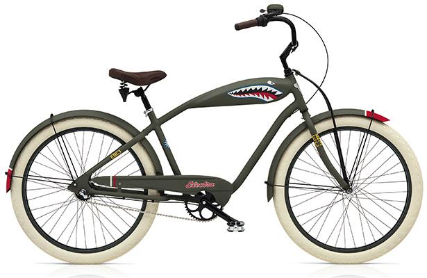 Велосипед для поездок на море Electra Tiger Shark 3i. Оригинальный дизайн и комфорт велосипедиста здесь более важны, чем скоростные качества. На такой «акуле» очень приятно проехаться к ближайшему пляжу. Цена – $800