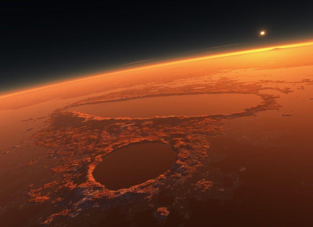 Одна из причин непригодности Марса для жизни - очень разреженная атмосфера