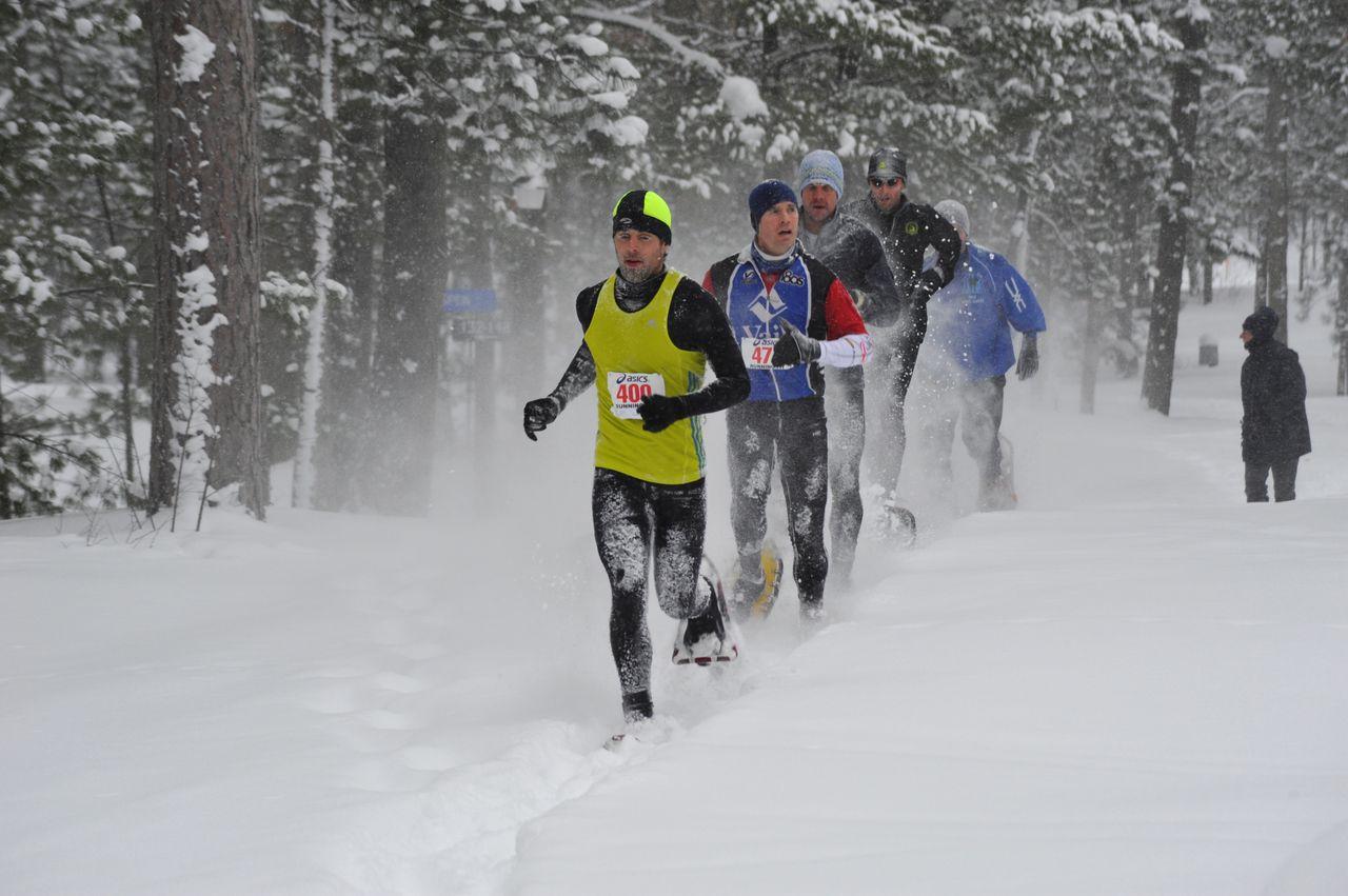 Снег и холода - не помеха для бегуна