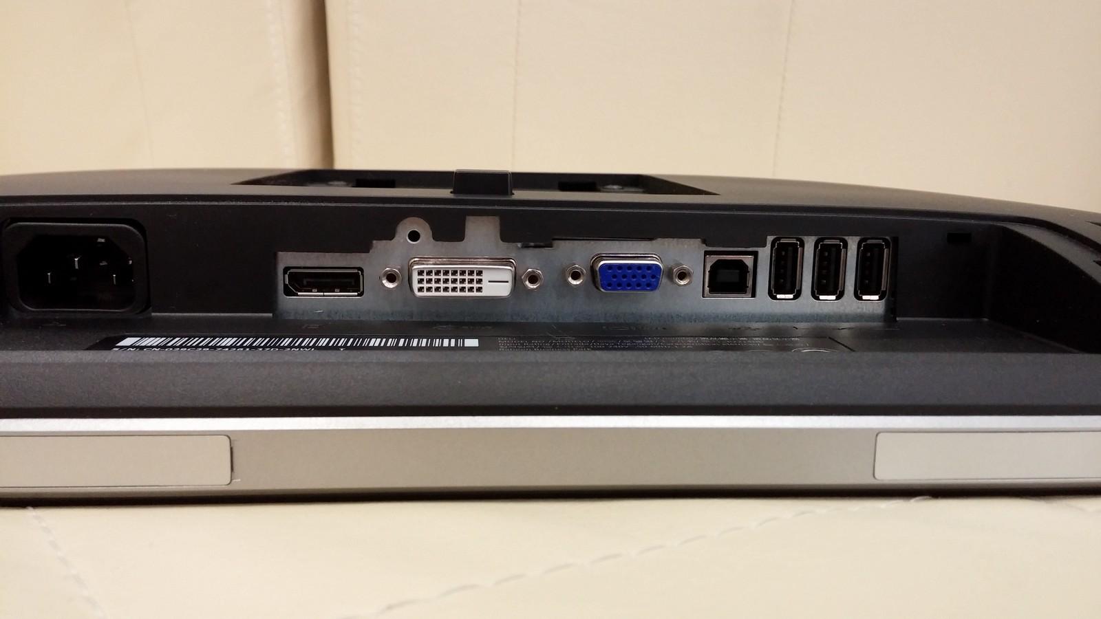 Dell P2214H - порты