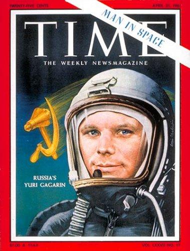 Юрий Гагарин на обложке Time