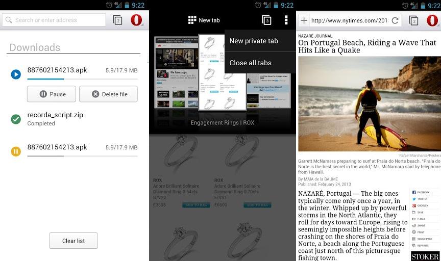 Браузер Опера - новая адресная строка и автономный просмотр страниц