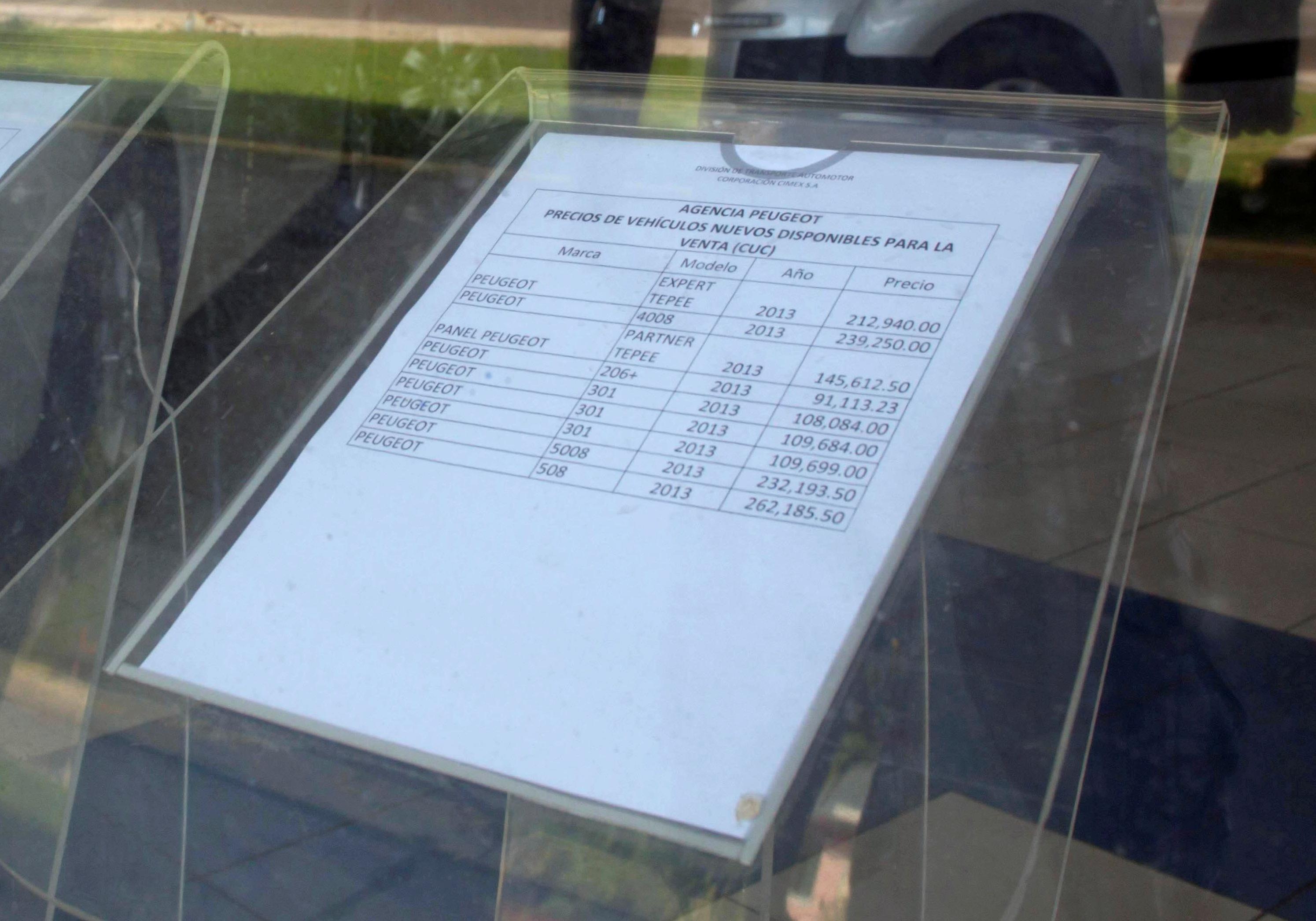 Цены на Пежо в столице Кубы доходят до 262 тысячи долларов