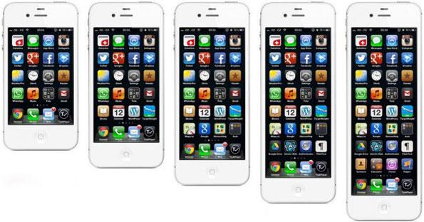 Среди новых моделей iPhone будут модели с 3,5-, 4- и 5-дюймовыми дисплеями