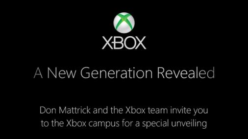 Официальное приглашение на мероприятие Microsoft, касательно новой игровой приставки
