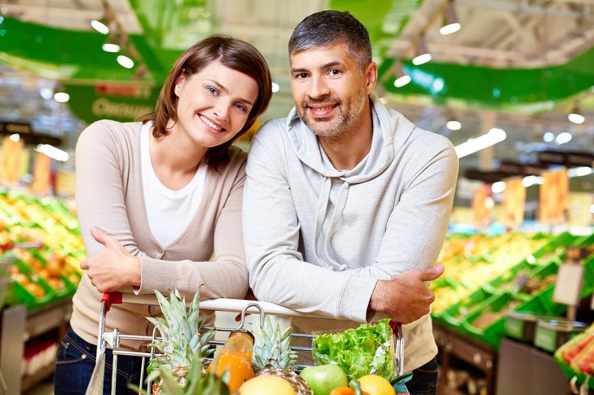 Полезные продукты питания купить можно в любом супермаркете