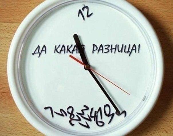 часы показывающие клева