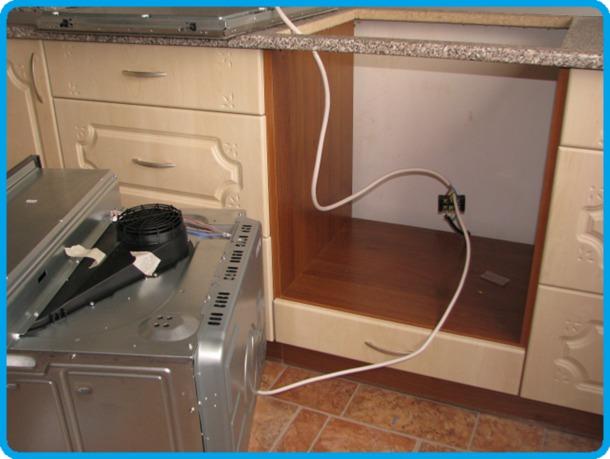 Установка духовой шкаф