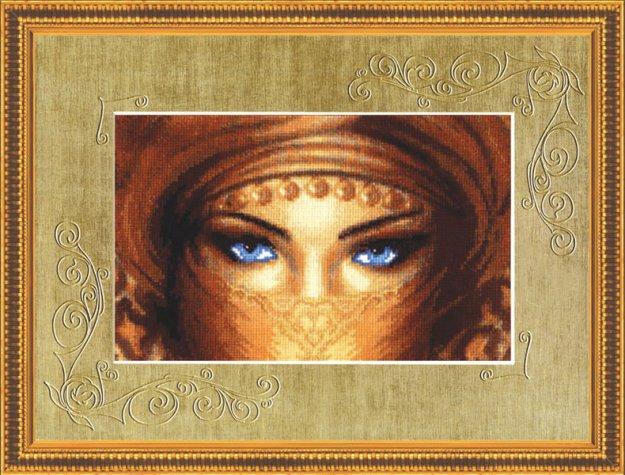 Купить набор для вышивания крестиком Золотое руно Взгляд (арт.  Ф-013) в магазинчике рукоделия fuby.ru.