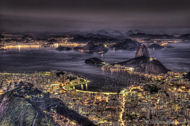 Рио де жанейро после заката солнца mauro