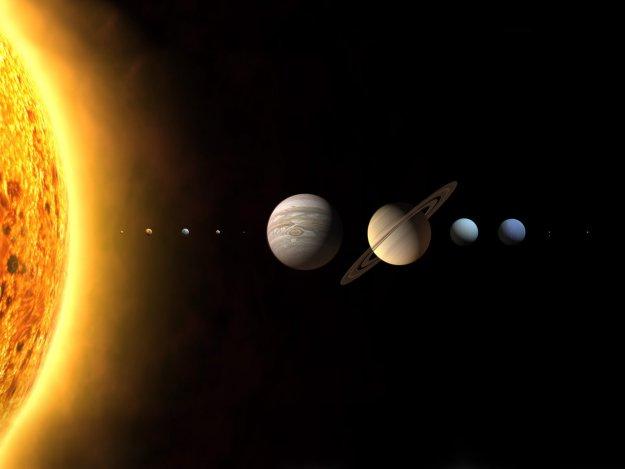 Сравнение планет в нашей солнечной