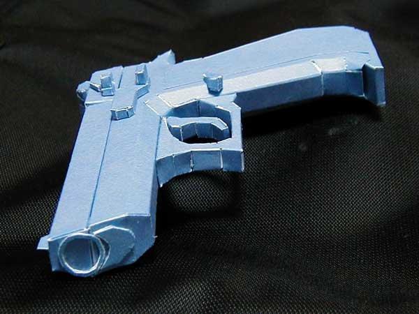 Как сделать пистолет из бумаги видео своими руками