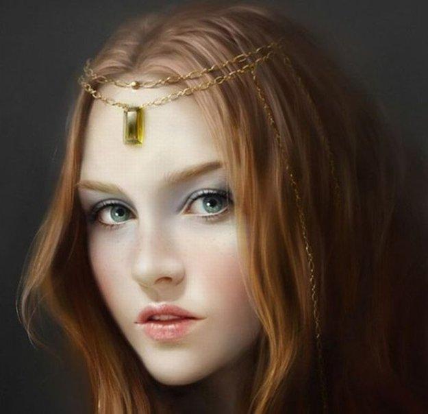 Нарисованные красивые девушки - bigmir)net - 625x604