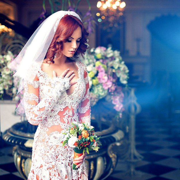 фото полных но красивых рыжих невест