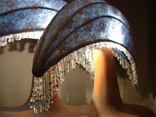 ...оцинк.)ткань,бисер...лампочки галогенки по 20W..такая довольно яркая...