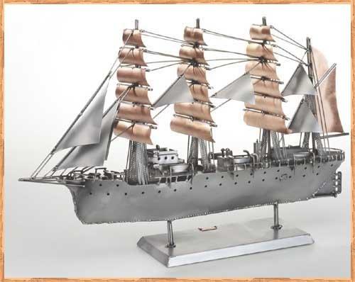 Корабль из металла своими руками