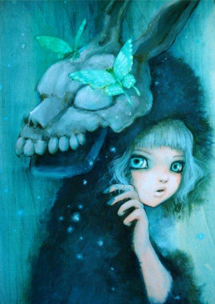 Знакомьтесь, моя любимая художница Ее профиль - девочки в стиле аниме с какой-нибудь интересной штукой на голове...