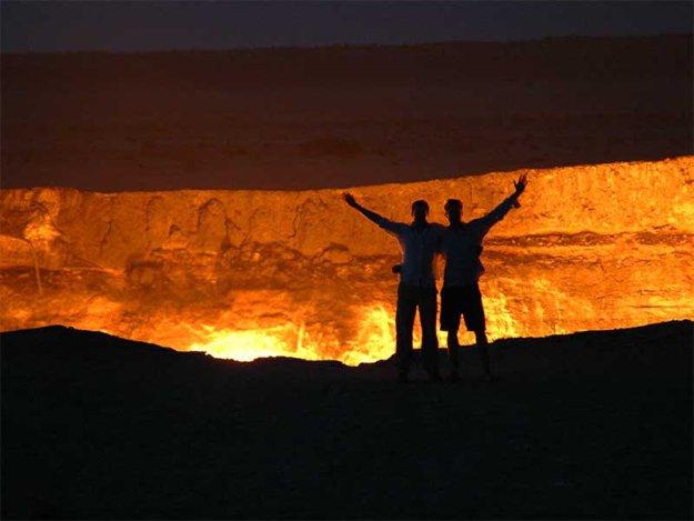 Горящая дыра в Туркменской пустыне  183784_402299