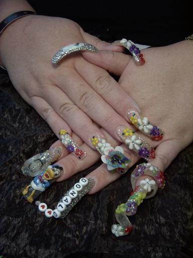 Рисунки на ногтях длинных ногтях