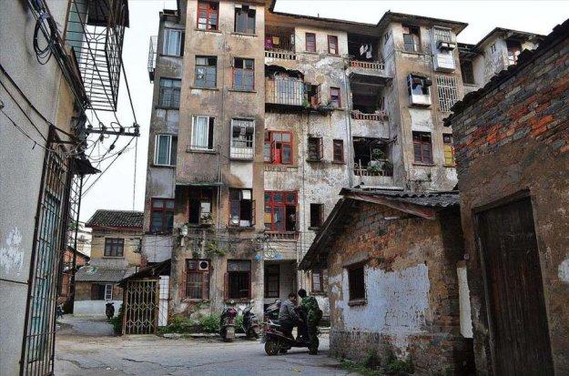 Спальный район китайского райцентра