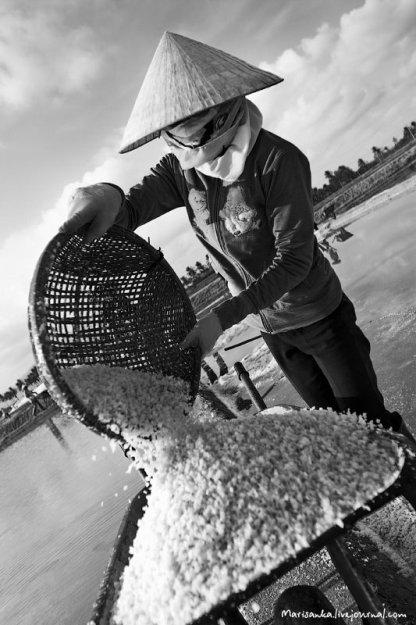 На процесс добычи соли очень сильно влияют погодные условия.  Даже если удалось собрать соль в кучи...