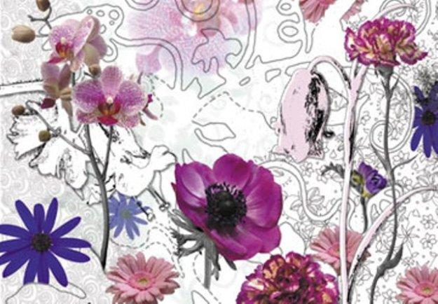 фотообои на стену фиолетовые цветы komar.