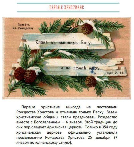 Познавательные факты о Рождестве