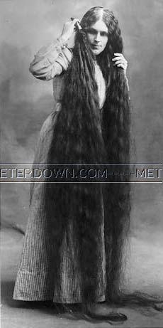 Очень длинные волосы шаг в прошлое