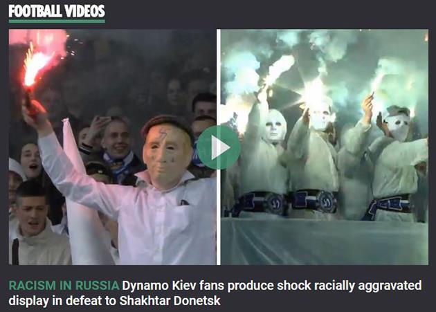 The Sun назвал беспорядки футбольных фанатов вУкраинском государстве «расизмом вРоссии»