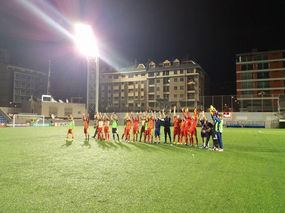 Андорра впервый раз за13 лет одолела вофициальном матче