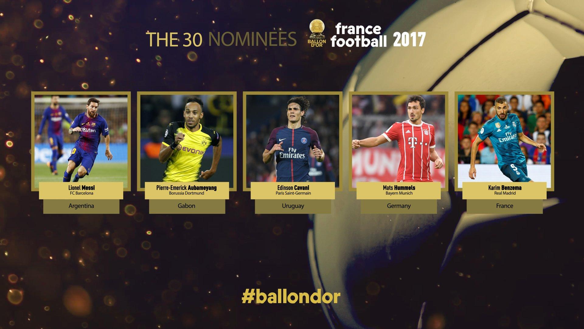 30 претендентов на золотой мяч 2017 нашем рейтинге лучших