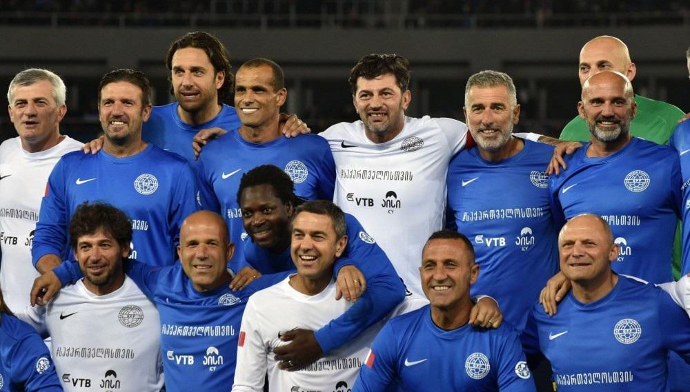 Tbilisidə futbol ulduzlarının iştirakı ilə matç keçirilib - VİDEO