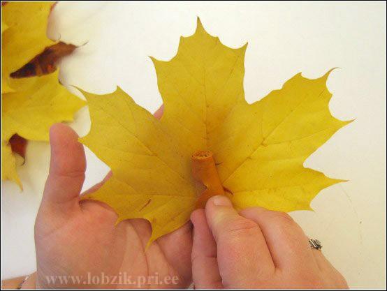 Осень своими руками из листьев фото