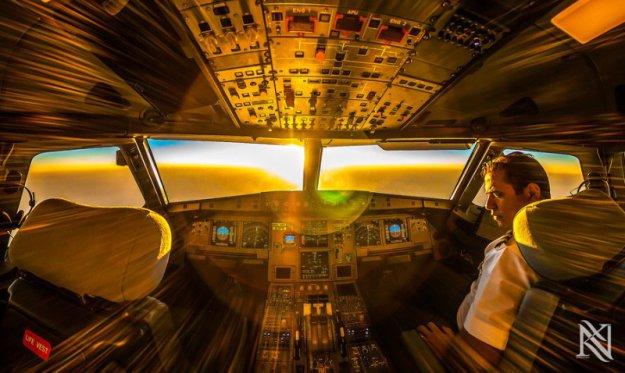 Фотографии из кабины пилота
