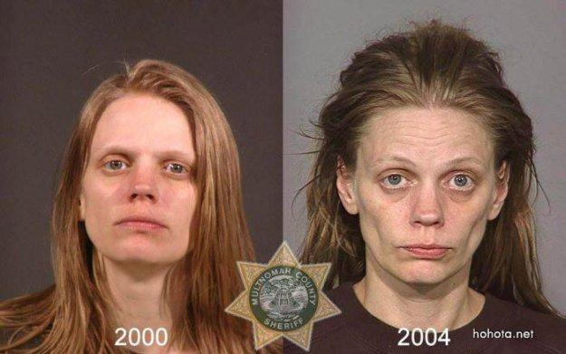 Лица наркоманов
