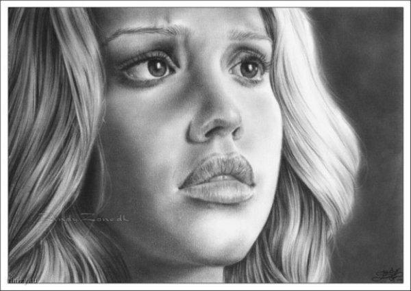 Картинка девушки карандашом
