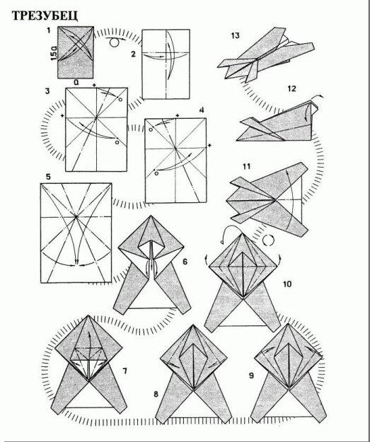 Инструкция бумажных самолётов