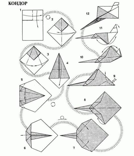 инструкции бумажных самолетиков img-1