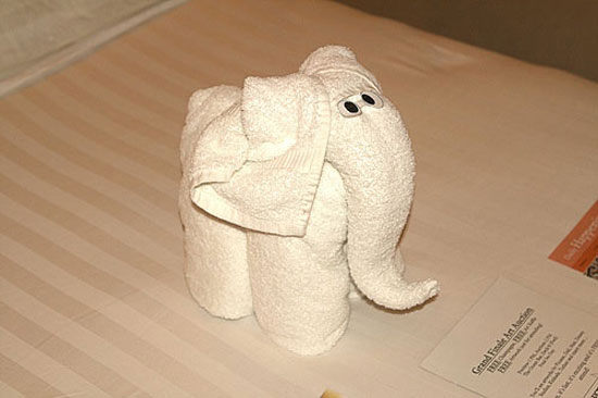 Как сделать фигурки из полотенца