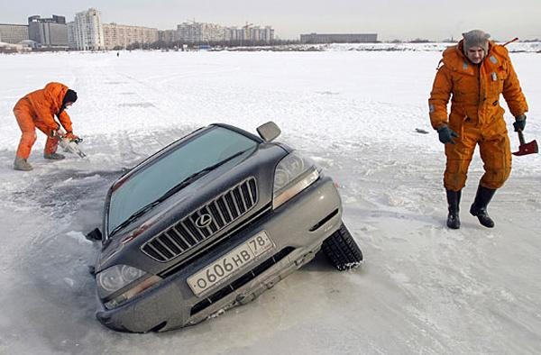 прикол на рыбалке с машиной