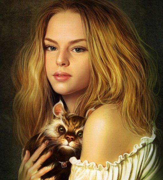 фото красивых нарисованных девушек: