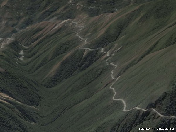 Интересные места в Google Earth