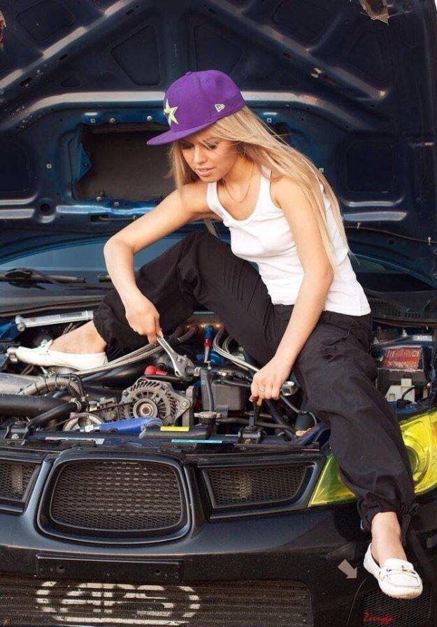 Приколы девушки и автомобили фото