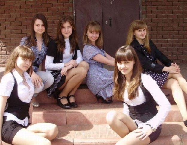 Современные школьницы