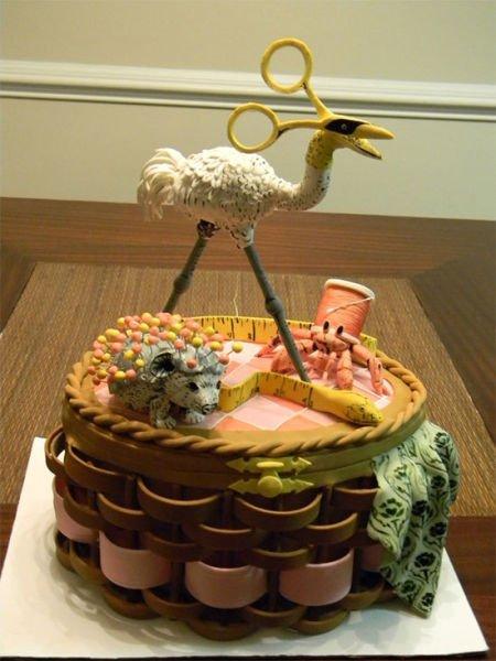 Оригинальное оформление тортов фото